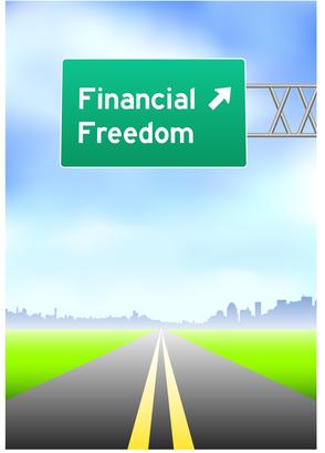Financial Freedom Highway Sign