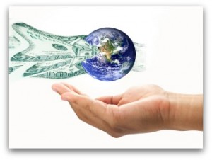 Money flowing into the world elements of this image furnished by NASA